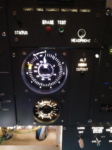 Pressurization Gauge and Backlight for the panel
